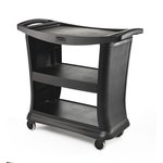 Black 300 lb Executive Service Carts
