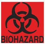 FluoreRed Biohazard Decal 6X5-3/4
