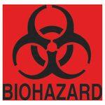 FluoreRed Biohazard Decal 6X5-3/4