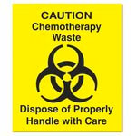 Yellow Chemotherapy Waste Decal 6X6