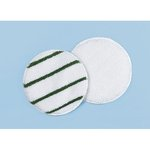 White/Green Striped 17 in. Round Rotary Low Profile Yarn Bonnets