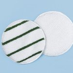 White/Green Striped 21 in. Round Rotary Low Profile Yarn Bonnets