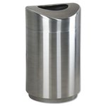ECLIPSE Silver 30 Gal Fire-Safe Steel Receptacle