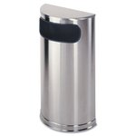 Stainless Steel Designer Fire-Safe 9 Gal Receptacle