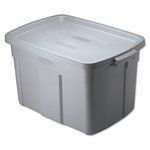 Roughneck Steel Gray 14 Gal Storage Box