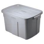 Roughneck Steel Gray 14 Gal Storage Box