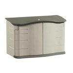 Olive/Sandstone Large Horizontal Outdoor Storage Shed 55X28X36