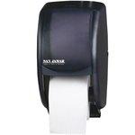 Black Duett Double Roll Toilet Tissue Dispenser