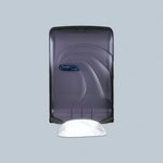 Black Large-Capacity Oceans Towel Dispenser for C-Fold/Multifold
