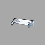 Chrome Perforated Single Roll Towel Dispenser
