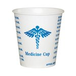Waxed-Coated 3 oz. Graduated Medicine Paper Cups