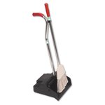Ergo Black/Silver 12 in. Wide Dustpan/Broom
