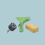 Fixi Clamp for Mop Heads, Rags, or Cloths