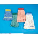 Green Super Loop Cotton Fiber Wet Mop Head, M