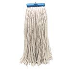 White Cut-End Lie-Flat Rayon Fiber 16 oz. Wet Mop Head