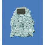 Looped Cotton Mop Head w/ Scrub Pad, L