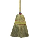 Corn Fiber Bristles Parlor Broom w/ 42 in. Wooden Handle