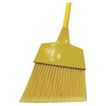 Yellow Plastic Bristles Angler Broom w/ 42 in. Wooden Handle