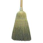 Corn Fiber Bristles Warehouse Broom w/ 42 in. Wooden Handle