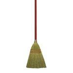 Corn Fiber Bristles Lobby/Toy Broom w/ 39 in. Wooden Handle