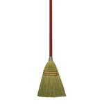 Corn Fiber Bristles Lobby/Toy Broom w/ 39 in. Wooden Handle
