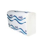 White High-Quality 1-Ply Embossed C-Folded Paper Towels