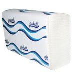 Brown High-Quality 1-Ply Embossed Multifold Paper Towels