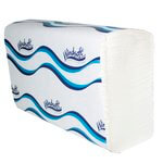 White High-Quality 1-Ply Embossed Multifold Paper Towels