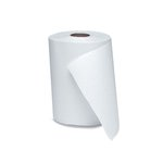 White 1-Ply Nonperforated Roll Towels 12 ct