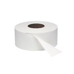 White 1-Ply Jumbo Roll Toilet Tissue