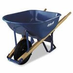 6 Cubic Ft Steel Tray Contractor Wheelbarrow
