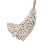 Deck 24 oz. Cotton Fiber Mop Head w/ Wooden Handle