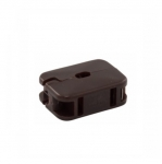 10 Amp In-Line Outlet, NEMA 1-15R, Brown