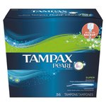 Pearl Tampax Tampons, Super, 36/Box, 6 Box/Carton