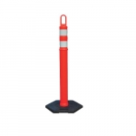 4-ft Looper-Tube Traffic Marker w/ 12 lb. Rubber Base