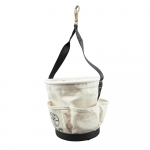 Heavy-Duty Tapered-Wall Bucket - 4 Outside Pockets