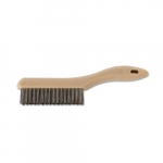 Shoe Handle Scratch Brush w/ 4x16 Bristle Rows