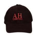 Black w/Red Logo Baseball Cap