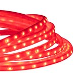 Red 6.6 Foot 120V  4.4W Per Foot LED Tape-Rope Light Kit