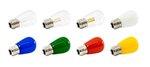 Yellow 1.4W 120V S14 Opaque Pro Decoration E26 Base LED light, Box of 25