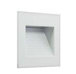 3000K 1W 120V White Inner Square LED Step Light