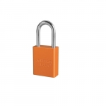Aluminum Safety Padlock w/ 1.5-in Shackle, Orange