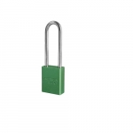 Aluminum Safety Padlock w/ 3-in Shackle, Green