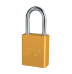Yellow Safety Lockout Solid Aluminum Padlock