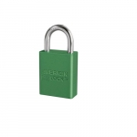 Aluminum Safety Padlock 1/ 1-in Shackle, Green