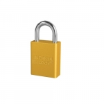 5 Pin High Visibility Aluminum Padlocks, Yellow