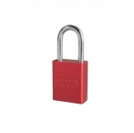 Aluminum Safety Padlock, Red