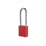 Red Solid Aluminum Padlock