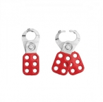 1 in. Red Aluminum Six Hole Lockout Hasp