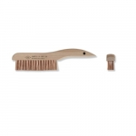 10-in Scratch Brush w/ Shoe Handle, 4 X 16 Rows